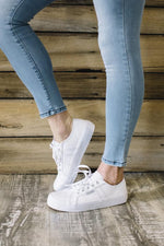 Cass Leather Sneaker - White