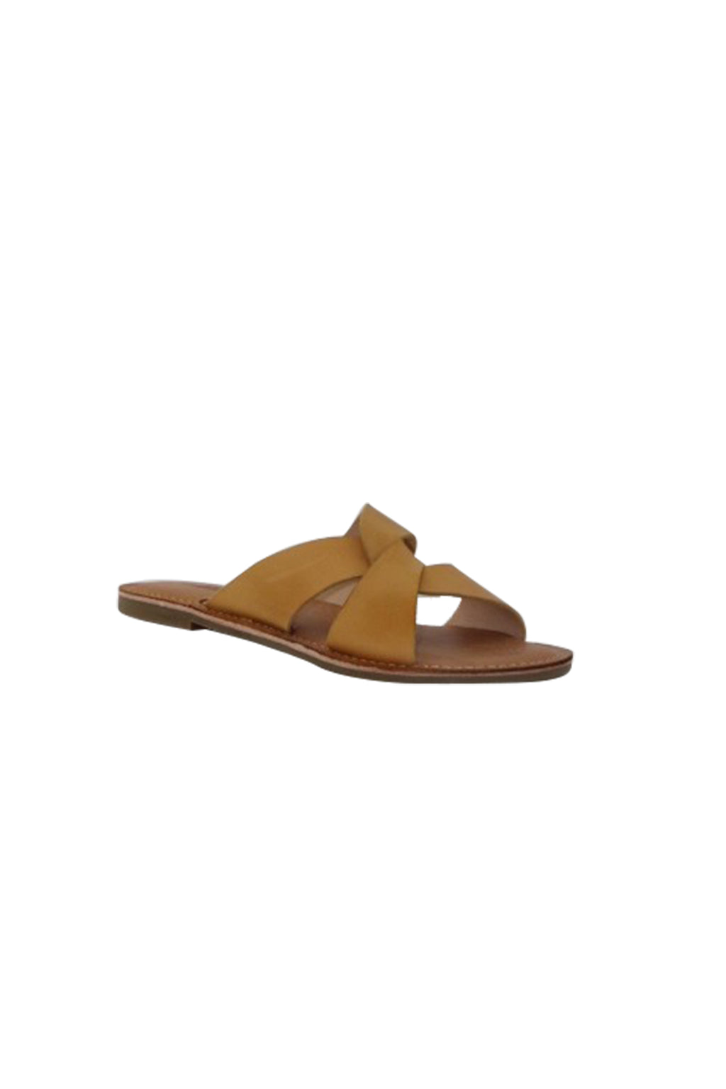 Chapel Leather Slides - Mustard