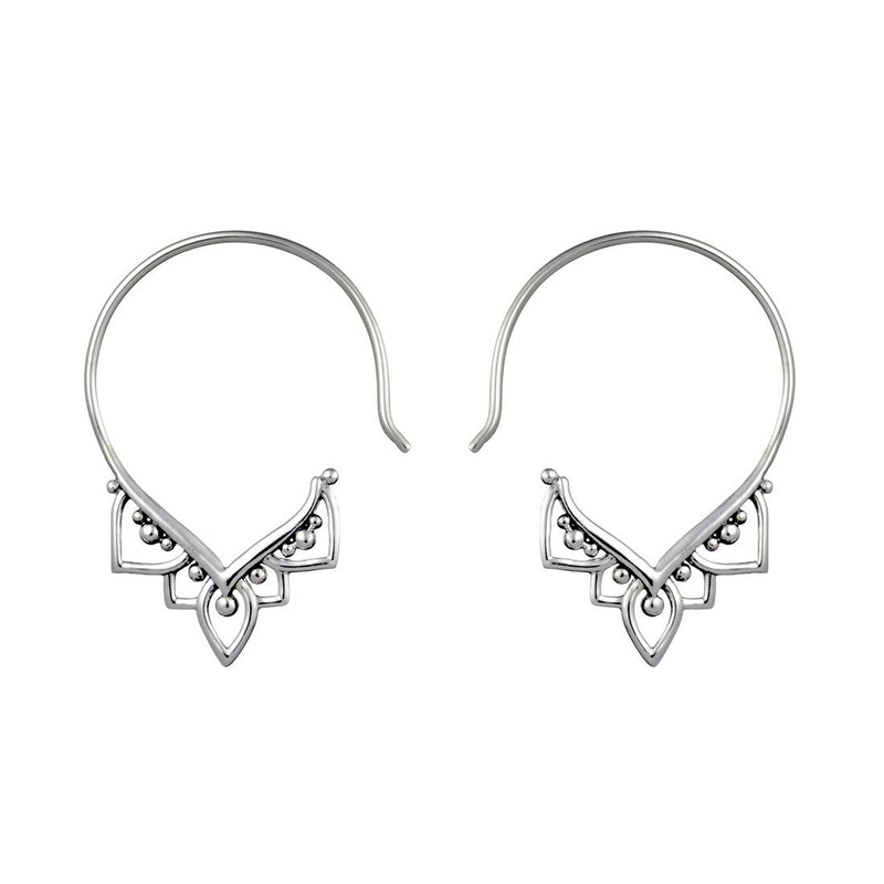Mehndi Hoops - Stirling Silver