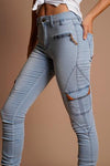 Jogger Jeans - Light Blue