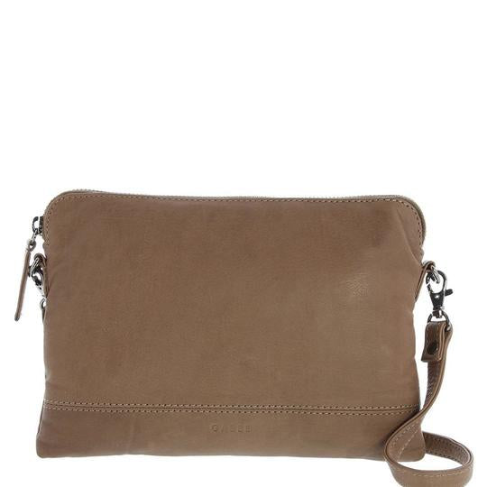 Holly Leather Crossbody Purse 2 in 1  - Stone