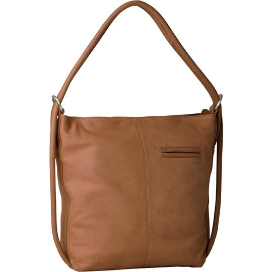Indiana Leather Convertible Handbag Backpack - Large - Tan