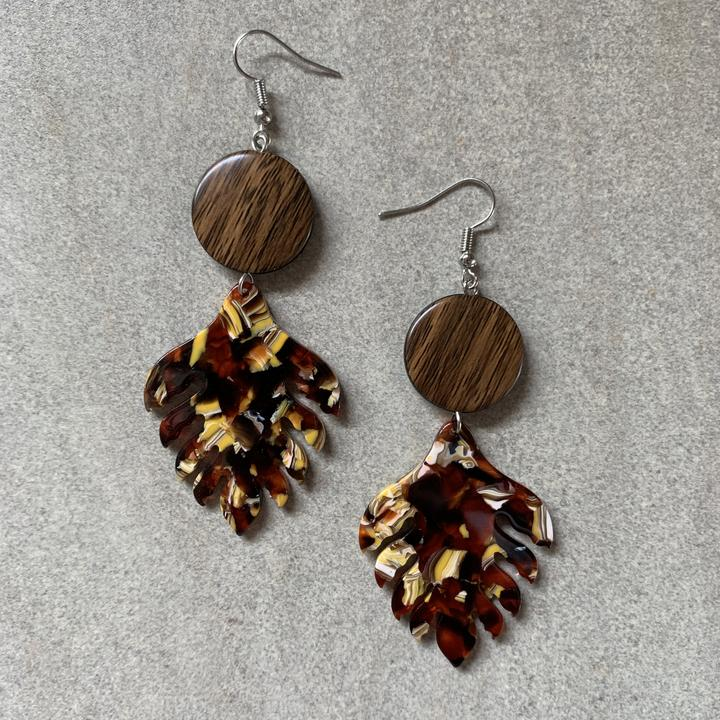 Leaf Dangles - Autumn Tones