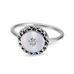 Mantra Shell Ring - Stirling Silver