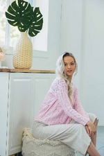 Super Soft Light Knit Cotton Jumper - Pink