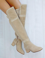 Marlee Suede Boots - Taupe