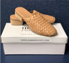 Hand Woven Leather Slides - Nude