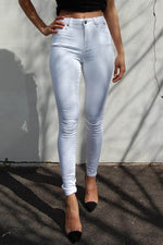 Gelatos Legs - High Waist - White