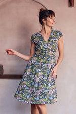 Hibiscus Wrap Dress -100% Cotton