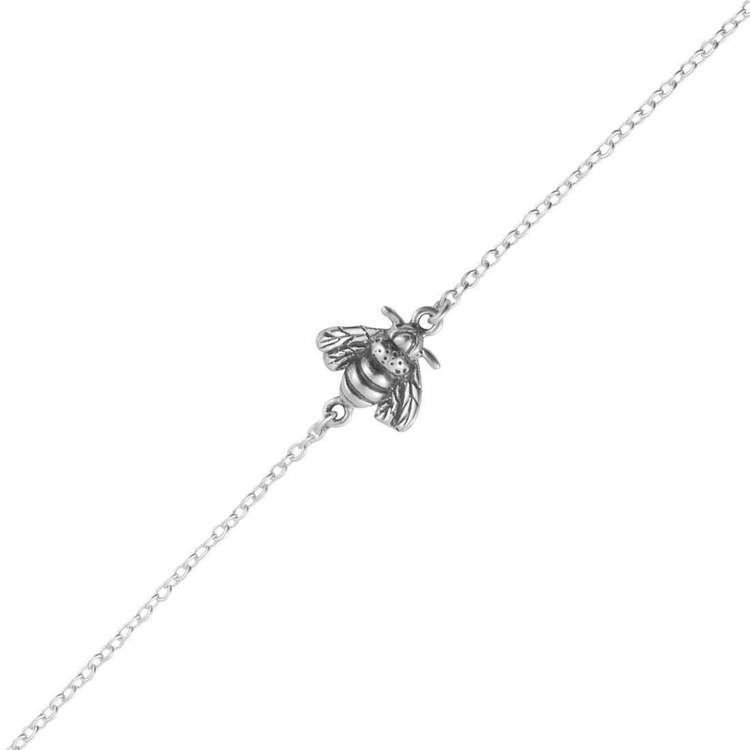 Sterling Silver Pollination Bee Bracelet