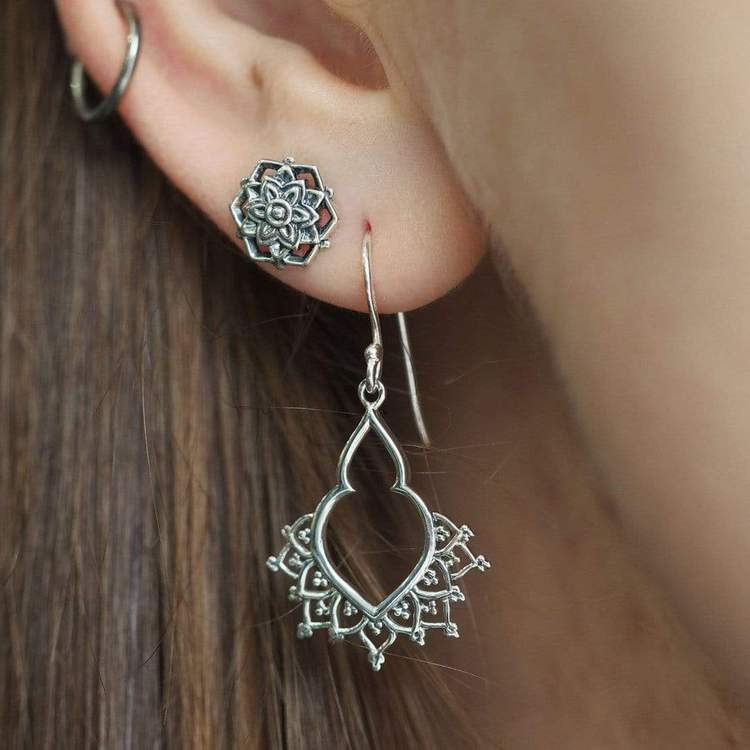 Sterling Silver Khabur Earrings