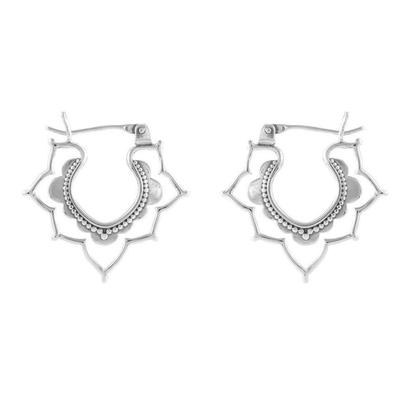 Sterling Silver Templum Exotica Sleeper Earrings