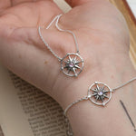 Sterling Silver Guiding Light Compass Necklace