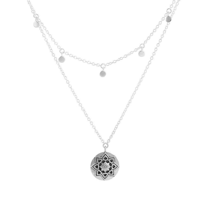 Sterling Silver Morning Flower Necklace