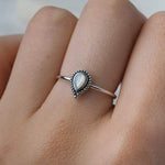 Luria Mother of Pearl Ring - Stirling Silver