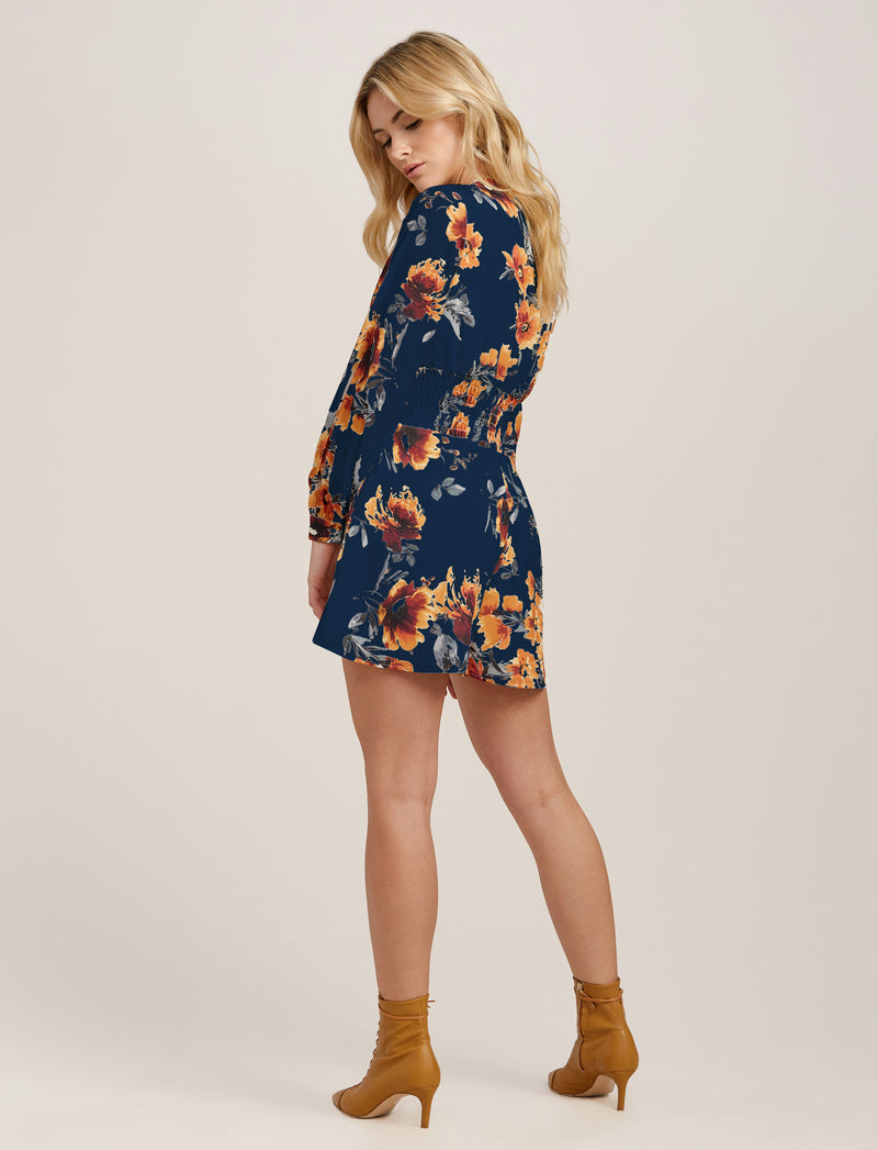 Navy Rust Floral