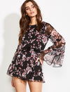 Stop and Smell the Roses Romper