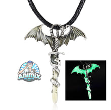 Load image into Gallery viewer, Sword Dragon Necklaces (Glow In The Dark)
