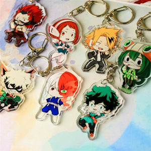 My Hero Academia Rubber Keychains