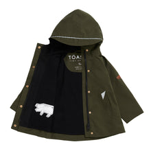 Load image into Gallery viewer, OLIVE GREEN RAINCOAT - Töastie