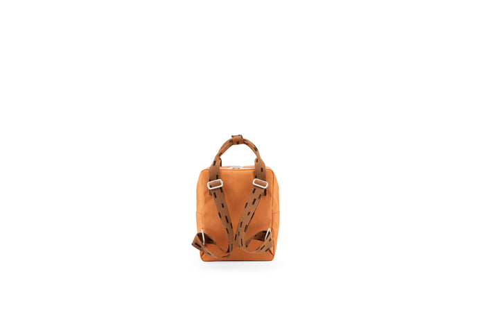 small backpack | Sprinkles | Envelope | Apricot Orange + Cinnamon Brown