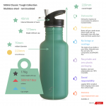 500ml niagara blue scratch resist stainless steel bottle