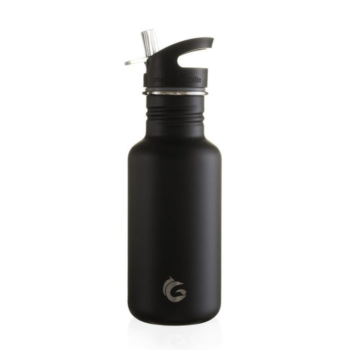 500ml black scratch resistant stainless steel bottle