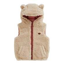 Load image into Gallery viewer, CAMEO PINK | CREAM REVERSIBLE SHERPA GILET - Töastie