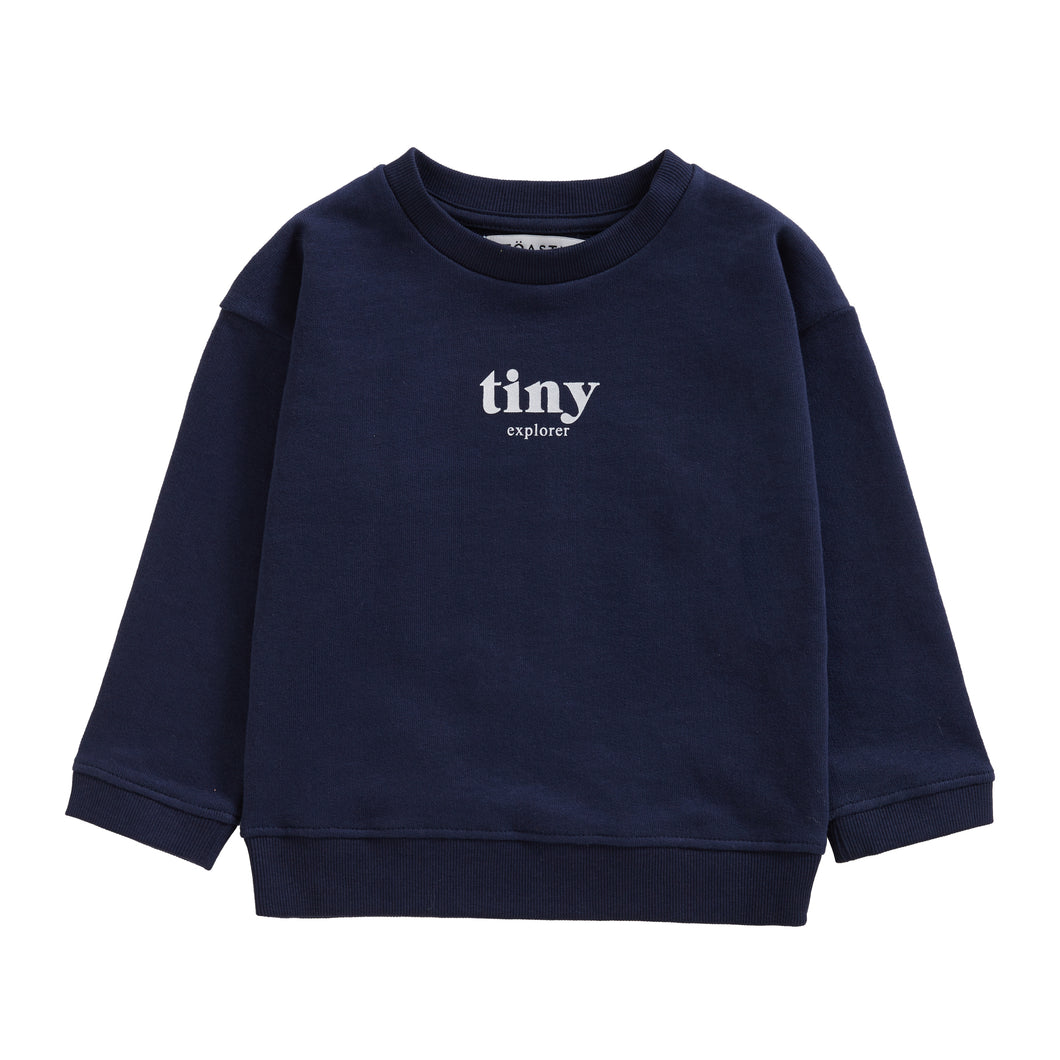 TINY EXPLORER SWEATSHIRT | NAVY - Töastie