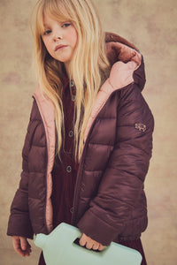 BLACK CHERRY | BLOSSOM REVERSIBLE PUFFER