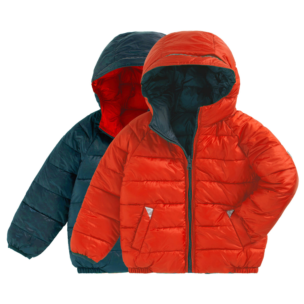 CLEMENTINE | TEAL REVERSIBLE PUFFER