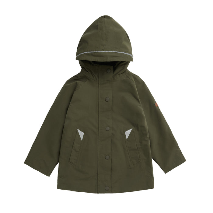 OLIVE WATERPROOF RAINCOAT - Töastie