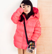 Load image into Gallery viewer, FLURO CHERRY PUFFER JACKET - Töastie