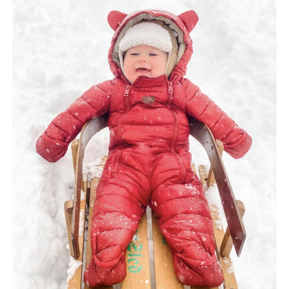 PERSIMMON QUILTED ONESIE