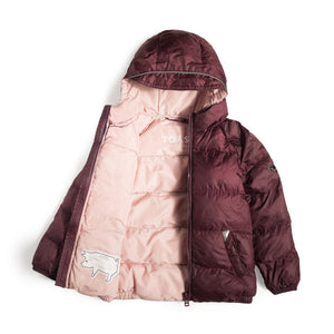 BLACK CHERRY PUFFER JACKET - Töastie