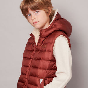 BISCUIT | CHESTNUT REVERSIBLE SHERPA GILET