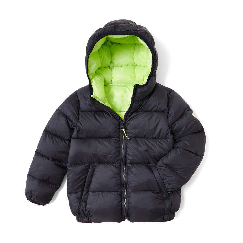 NAVY BLUE PUFFER JACKET - Töastie