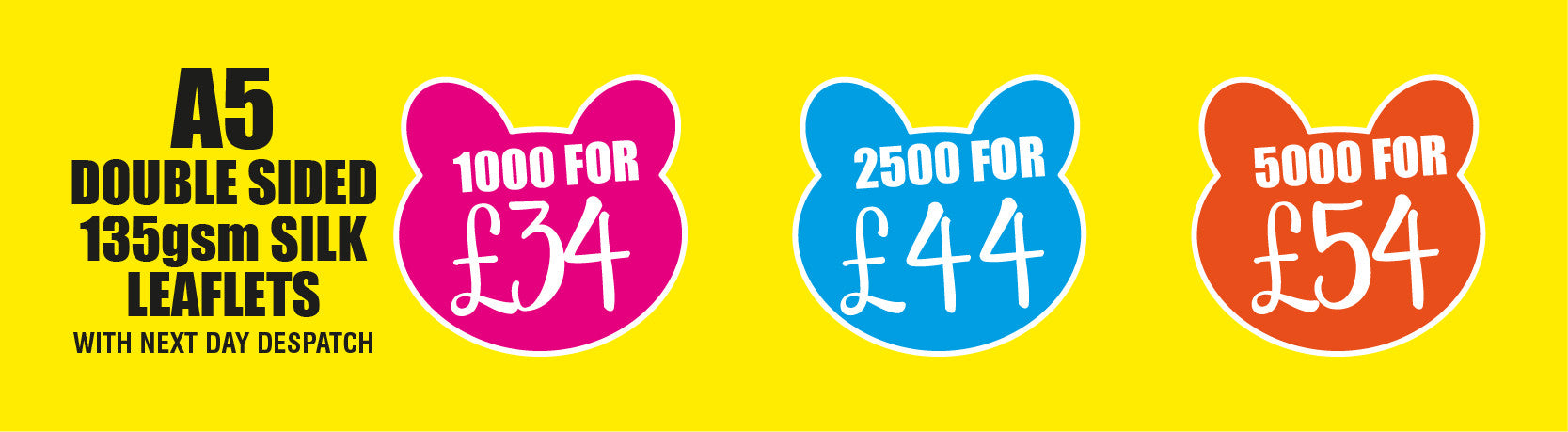 great prices on A5 leaflets