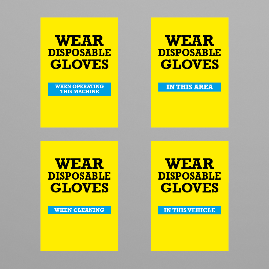 Social Awareness Stickers Yellow Style - Glove A6