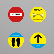 Social Awareness Stickers Yellow Style - 300mm Round