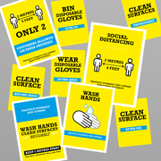Social Awareness Stickers Yellow Style Multipack