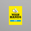 Social Awareness Stickers Yellow Style - Wash A6