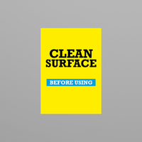 Social Awareness Stickers Yellow Style - Clean A6