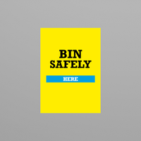 Social Awareness Stickers Yellow Style - Bin A6
