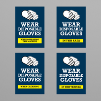 Social Awareness Stickers Blue Style - Glove A6