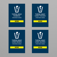 Social Awareness Stickers Blue Style - Bin A6