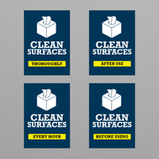 Social Awareness Stickers Blue Style - Clean A6