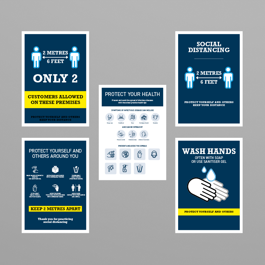 Social Awareness Blue Style - A3 and A4 Posters