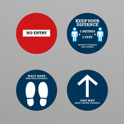 Social Awareness Stickers Blue Style - 300mm Round