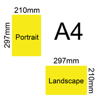 A4 115gsm 12pp Size